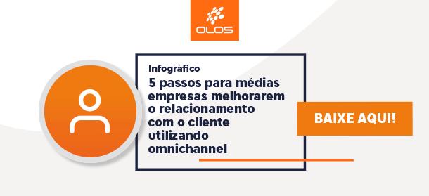 Baixe nosso infográfico e conheça os 5 passos para médias empresas melhorarem o relacionamento com o cliente utilizando omnichannel.